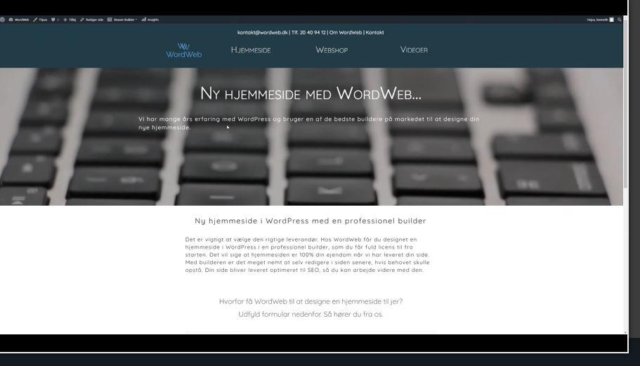 Ny hjemmeside og video - thumb